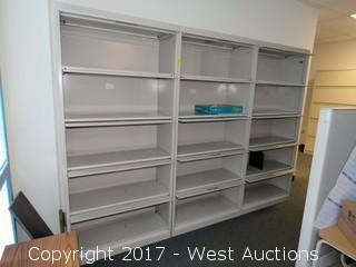 (3) Steel Cabinets 6.5'X2.5'