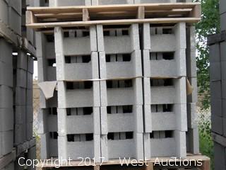 1 Pallet Masonry Block - 12x8x16 DOEBB Precison Grey Lightweight
