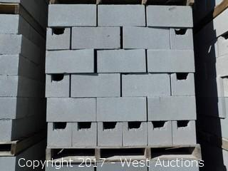 1 Pallet Masonry Block - 8x8x16 STD BB Precision Grey Lightweight