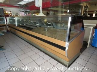 Refrigerated Deli / Supermarket Fresh Food Display Counter