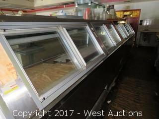 Refrigerated Deli / Supermarket Fresh Food Display Counter