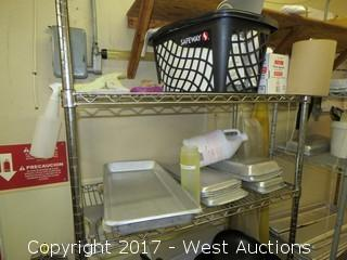 (3) 6' Metro Racks with Contents of Cooking Utensils