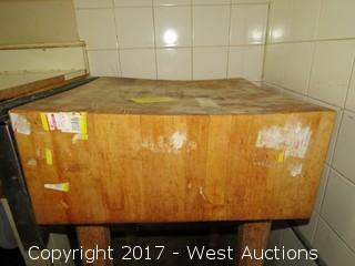 Wood Butchers Block