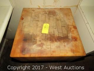 Wood Butchers Block