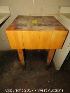 Wooden Butchers Block