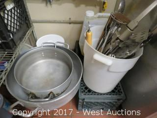 Pots and Pans, Ovenware, Tray Rack, Poly Top Stainless Table and more