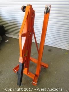 Central Hydraulics 1-Ton Folding Shop Crane