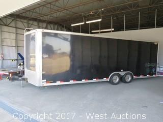 2003 H & H 26' Enclosed Cargo Tandem Axle Trailer