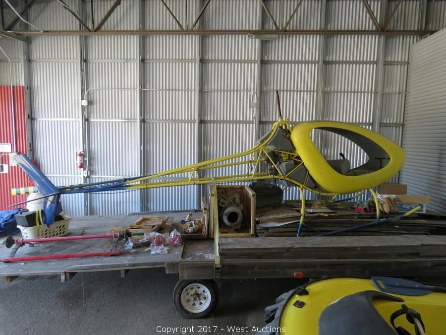 Auction of Sea Plane, Hovercraft, Helicycle, Ultralite Base, Trailers and More
