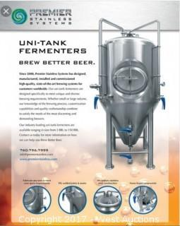 Premier Stainless Systems 10 BBL Uni-Tank Fermentation Tank