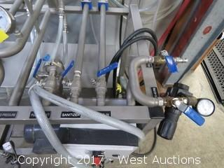 Premier Stainless KGW-M-02 Two System Keg Rinser/Cleaner System