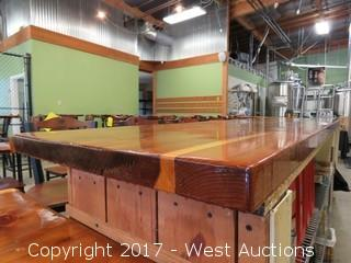 Custom Wood Tasting Bar Countertop  (top only)