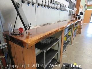 Custom Wood Countertop 14.5´ Long (top only)