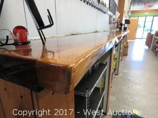 Custom Wood Countertop 14.5´ Long (top only)