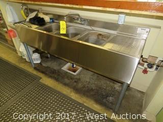 Krowne Stainless Steel 3-Basin Bar Sink