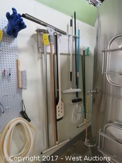 Tool Pegboard with Brewery Cleaning Implements