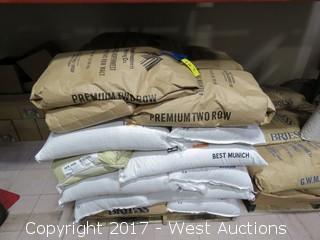 Pallet of (32) 50 lb Bags of Malt