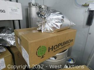 Rack With (20+) Bags/Boxes Of Hops