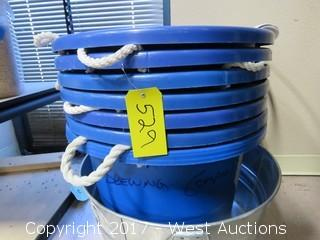 (8) Buckets And Hose