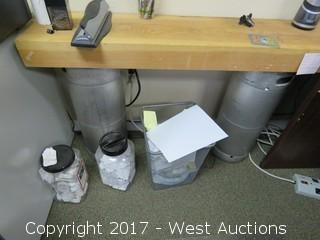 Office Contents - Desk, Coffee Table, Wood Table, Couch, File Cabinets, Bookcases