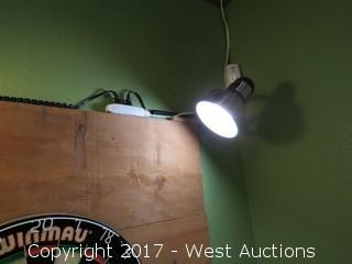 Dart Board With Stand, Backing, And Lights