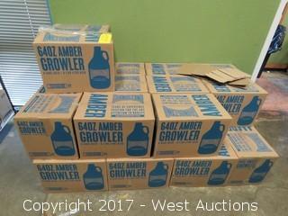 (24) Boxes of  (6) Amber 64 Oz. Growler Bottles