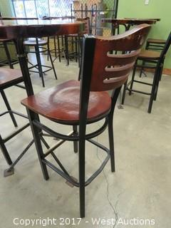 (1) Wood Top Table and (2) Chairs