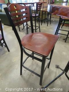 (1) Wood Top Table Set and (2) Chairs