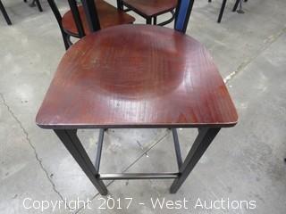 (1) Wood Bar Height Chair