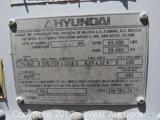 2000 Hyundai 50' Trailer with Lift Gate