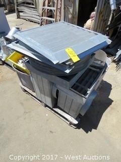 Pallet; Various Aluminum Vents Panels and Metal
