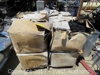 """Pallet: (8) Boxes of 4""""X3"""" Plastic Utility Duct Spacers"""