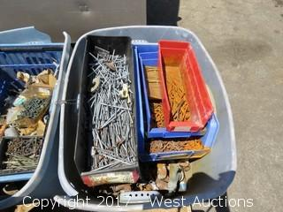 Pallet; (3) Boxes of Screws/Nails and Other Items