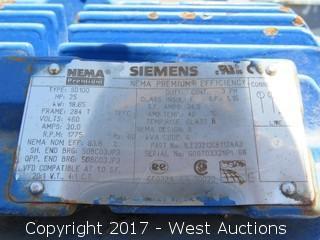 Siemens 25 HP Electric Motor