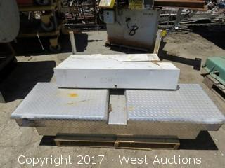 (4) Bed Mounted Truck Tool Boxes