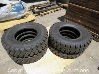 (4) Deestone 7.50-15 Forklift Tires