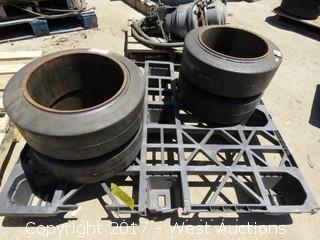 (4) 18X7X12 1/8 Forklift Tires