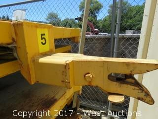 (1) Industrial Steel Cart with (2) Rails