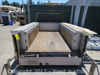 7'X5' Flat Bed with Lift Gate and Side Tool Compartments