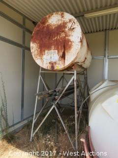 550 Gallon Fuel Tank with 6' Steel Stand
