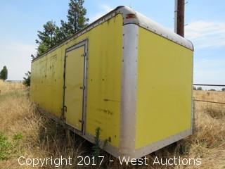 25' Box Truck Storage Container with Contents