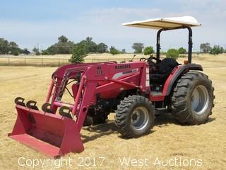 2006 Mahindra 4110 4WD Compact Front Loader Tractor