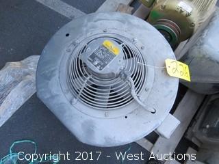Baldor .28 HP 3 Phase Motor Cooling Fan System