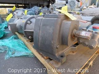 Baldor 3 HP 3 Phase Motor with Browning 3000 Series Gear system