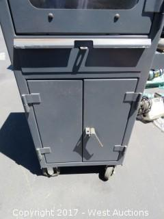 Strong Hold Portable Steel Computer Cabinet