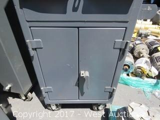 Strong Hold Mobile Steel Computer Enclosing Cabinet