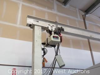 Gantry Overhead 1 Ton Crane with Jet 4400Lb Chain Hoist