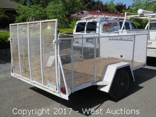 1990 Brite 11'x6' Trailer with 3' Side walls