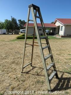 8' Husky Fiberglass Ladder