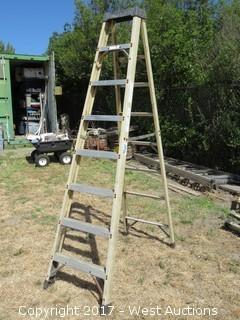8' Greenbull Fiberglass Ladder